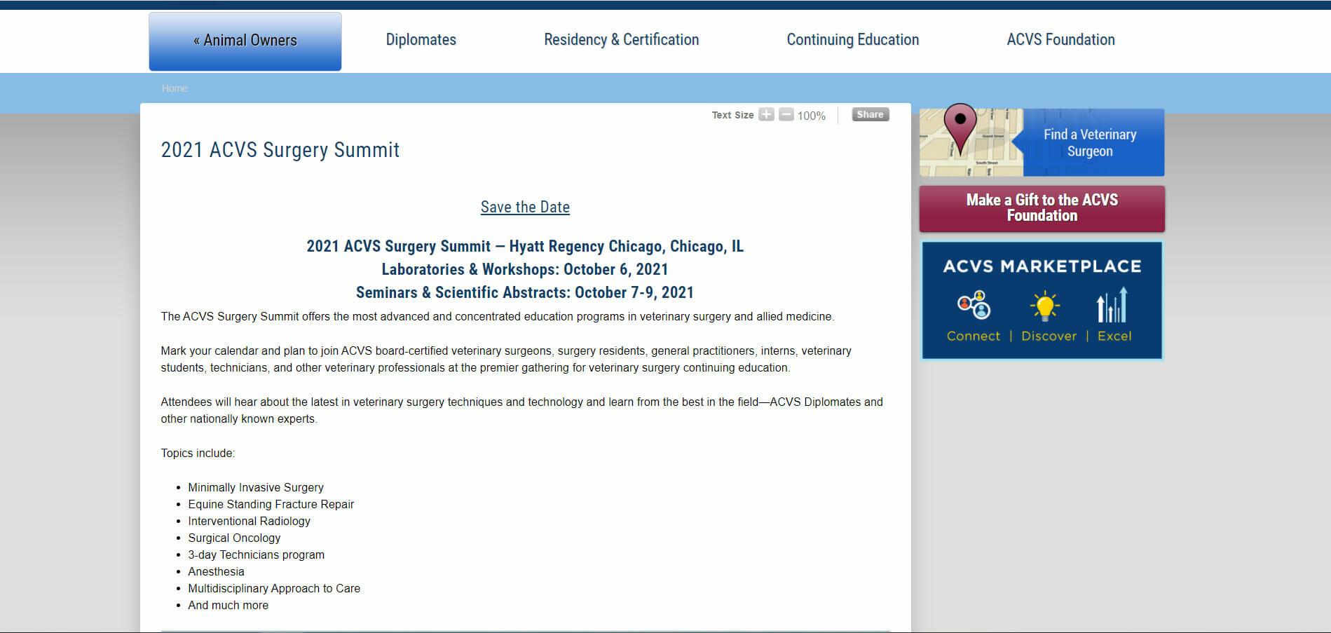 acvs surgery summit