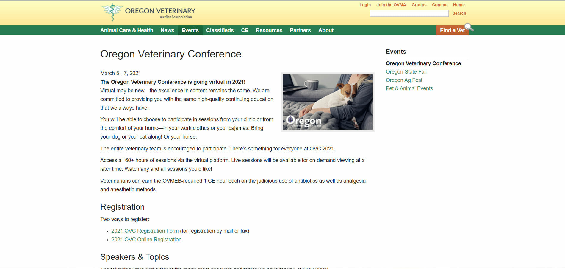 oregon veterinary conference