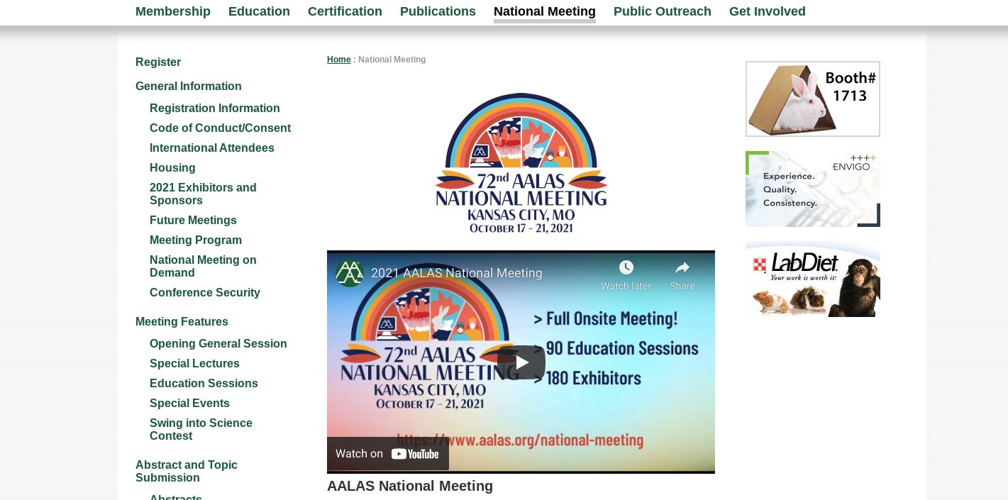 AALAS National Meeting